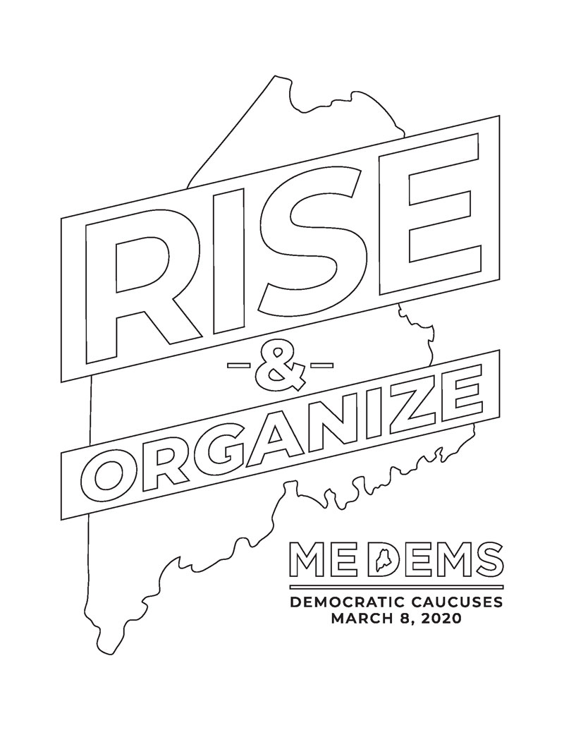 rise and organize colorable graphic